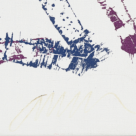 Arman, monotyp, serigrafi på duk, signerad.