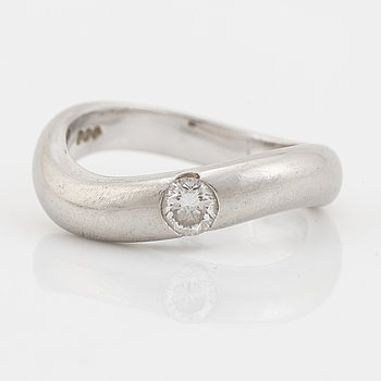 Platinum and brilliant cut diamond ring.