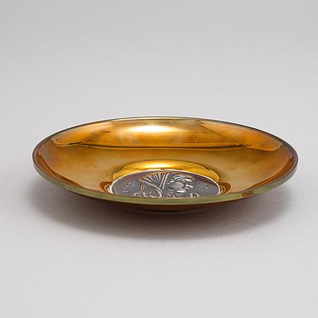 Five silver plates by ilias lalagounis, greece.