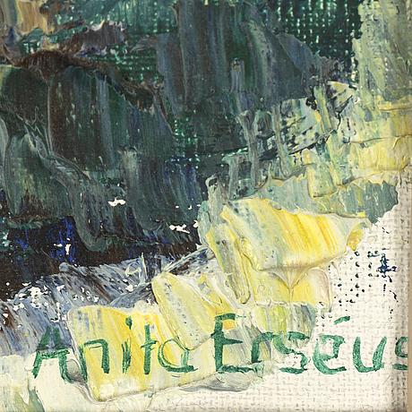 Anita erséus, olja på duk, signerad.