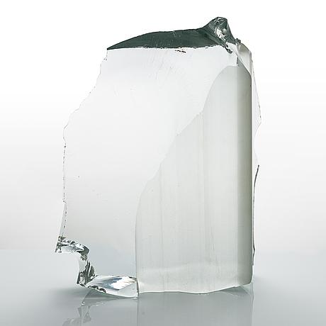 Timo sarpaneva, sculpture, series glass age, 'nameless' signed timo sarpaneva 1983. iittalan / toijalan kivivenveistämö.