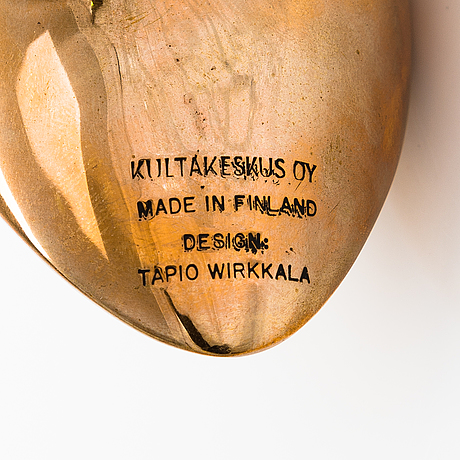 Tapio wirkkala, a 'sandpiper' sculpture, stamped kultakeskus oy made in finland design: tapio wirkkala.