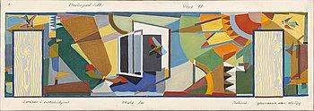 Clas Walter Sundman, oil on canvas, 1955.
