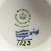 Servis, 11 dlr musselmalet helblonde royal copenhagen porslin ca 1970.
