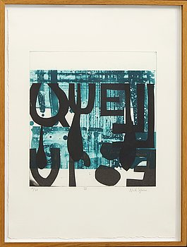 Astrid Sylwan, lithograph in colours signed and numbered 19/28.