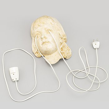 Dan Wolgers, sculpture, plaster and power cords, signed and dated 2018.