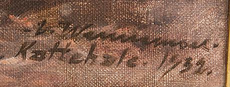 Carl wennemoes,  olja på duk, signerad och daterad 1932.
