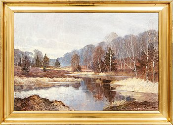 Carl Wennemoes, oil on canvas, signed and dated 1932.