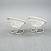 """Fåtöljer, ett par, """"rondo"""", göte-möbler i nässjö ab, nässjö, 1960-tal."""