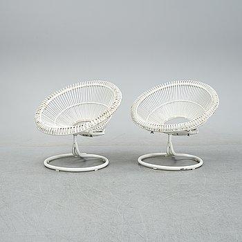 A pair of easy chairs, model 'Rondo', Göte-Möbler i Nässjö AB, Nässjö, 1960s.
