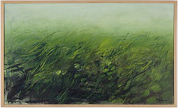 Eke Bjerén, oil on canvas, signed and dated 1969.