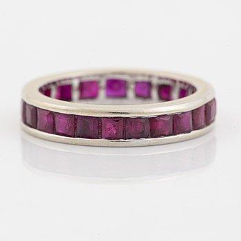 Ruby eternity ring.
