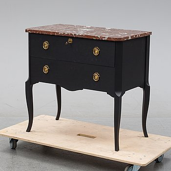 A Gustavian style chest of drawers, mid 20th century.