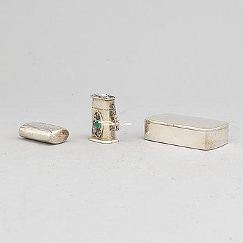 Three Swedish 19th century silver snuff-boxes.