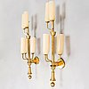 Paavo tynell, a pair of 1940's wall lights for taito.