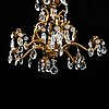 A rococo style chandelier, erly 20th century.