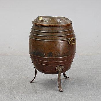 A copper water barrel, 19th Century.