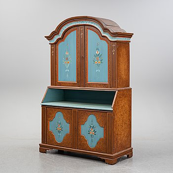 A painted cabinet from Frysdalen, Värmland, 19th Century.
