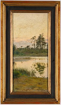Herman Lindqvist, oil on canvas, signed and dated Gotland -92.