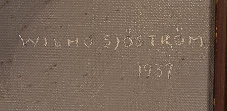 Wilho sjöström, olja på duk, signerad och daterad-37.