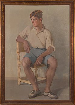 Wilho Sjöström, oil on canvas, signed and dated-37.