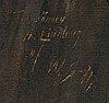 Wilho sjöström, öljy kankaalle, signeerattu omistuskirjoituksella.