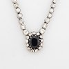 Sapphire and diamond necklace.