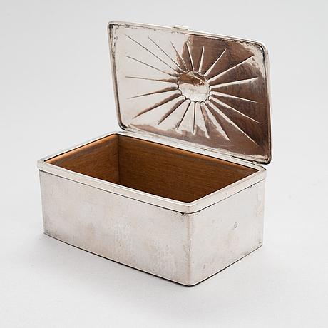 Alexander tillander, a silver cigar box, helsinki 1925.