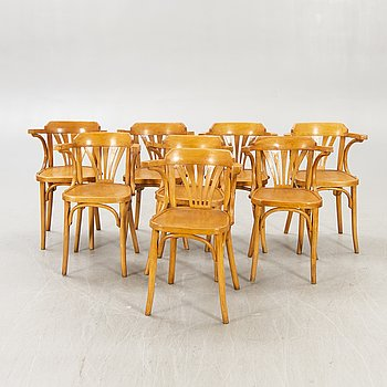 A set of eight armchairs first half of the 20th century.
