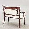 A five pcs jacob & josef kohn sofa and chairs vienna early 1900s.