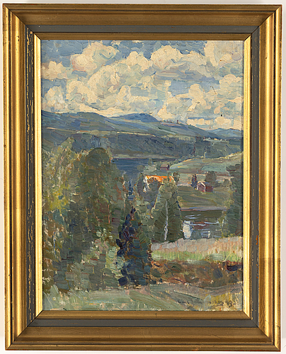 Carl johansson, oil on panel, signed and dated -43.
