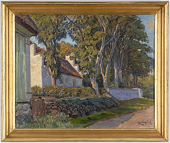 Justus Lundegård, oil on canvas, signed and dated -19.