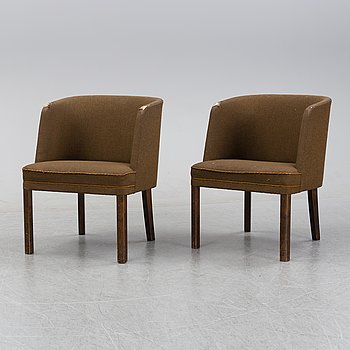 Axel Einar Hjorth, a pair of armchairs, Nordiska Kompaniet, 1935.