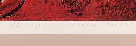 Reidar särestöniemi, offset print, signed and dated -76, numbered 89/300.