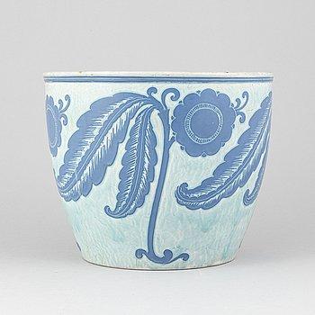 Josef Ekberg, a stoneware 'Sgrafitto' pot, Gustavberg, 1925.