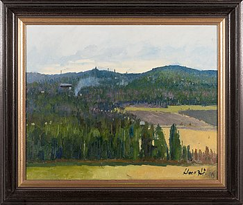 Armas Hursti, oil on board, signed and dated -80.