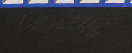 Victor vasarely, färglitografi signerad och numrerad  250/300.