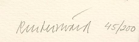 Carl fredrik reuterswärd, color lithographs, 4 pcs, signed, numbered, 45/200.