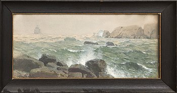Hjalmar Falk, watercolour signed and dated 190(?).