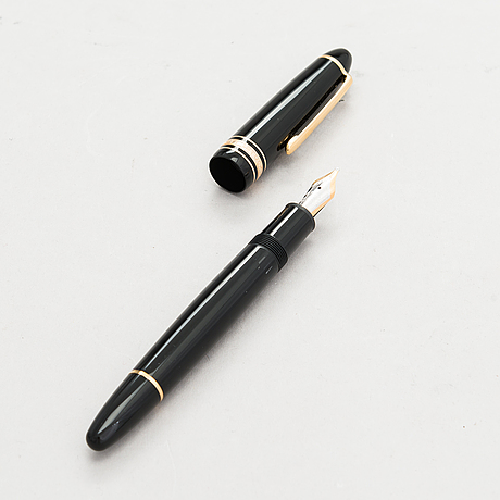 A montblanc meisterstück fountain pen.