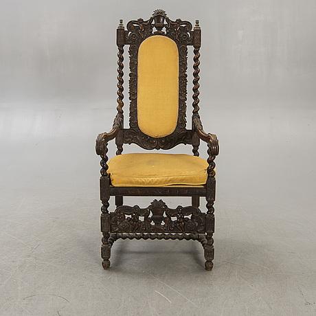 Karmstol barockstil 1800-talets senare del.