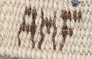 An anne marie forsberg 'blå crocus' textile 57x95 cm.