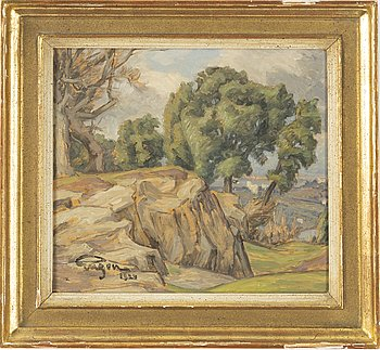 Prins Eugen, oil on panel, signed and dated 1924.