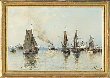 Herman af Sillén, oil on canvas, signed and dated -89.