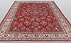 A carpet, sarouk ca 347 x 256 cm.