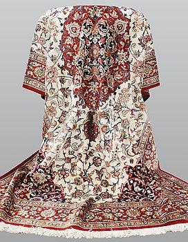 A carpet, silk, Qum, ca 300 x 200 cm.