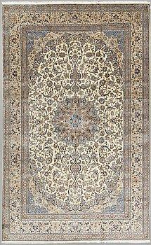 A carpet, Nain, part silk, so called 9 LAA, ca 501 x 310 cm.