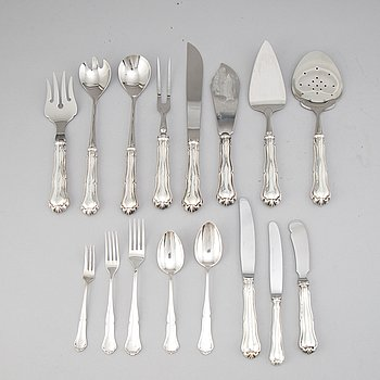 A Finnish silver cutlery, second half of the 20th century (63 pieces).