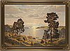 Karl bergman, oil on canvas, signed.