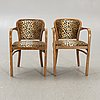 A set of two early 1900s thonet armchairs.